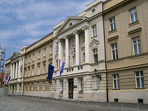 Speaker (politics) - Palace of the Croatian parliament