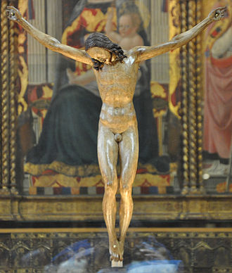 Crucifix (Michelangelo) - The so-called Crucifix Gallino displayed at the Bargello