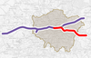 Map of the 3rd phase of Crossrail 2018