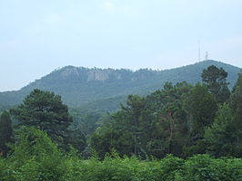 Crowder's Mountain in juli 2007