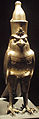 Cult Statue of Horus as Falcon Wearing Double Crown of Egypt - Front View - 27th Dynasty.jpg