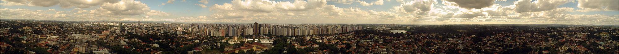 Vista panorâmica de Curitiba.