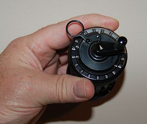 Curta - Curta Type I calculator, top view