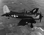 Curtiss SC-2 Seahawk with undercarriage in flight c1945.jpg