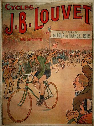 Au Vélodrome - Cycles J.B. Louvet, Poster Tour de France, 1912, Collection Ivan Bonduelle