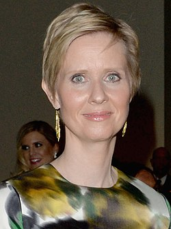 Cynthia Nixon and Christine Marinoni 2014 (cropped).jpg