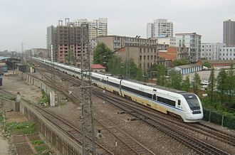 Nanchang - A CRH1 train near Liantang Station in Nanchang.