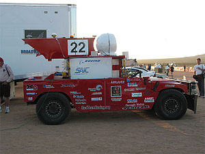 DARPA Grand Challenge (2004) - Red Team Racing's 1986 HMMWV Sandstorm