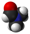 Spacefill model of dimethylformamide