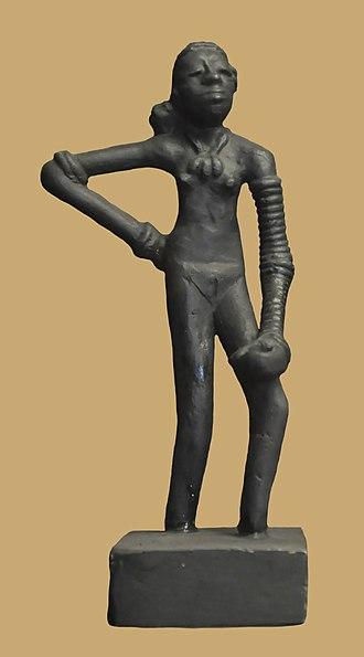 "Prehistoric art - Replica of the ""Dancing Girl of Mohenjo Daro"", Indus Valley civilization"