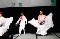 Dancing at the Wikimania 2015 Opening Ceremony IMG 7581.JPG