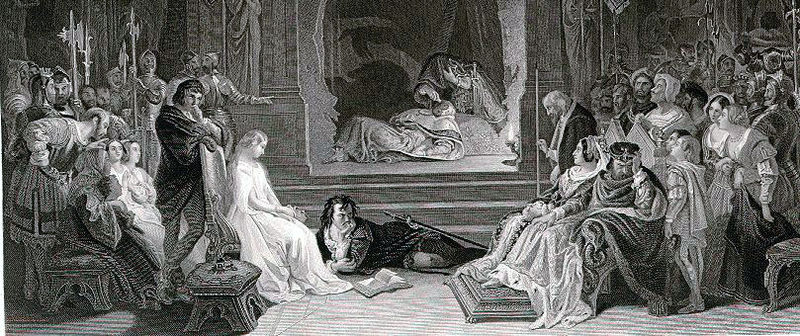 File:Daniel Maclise - The Works of Shakespeare - Hamlet, the play scene (Act III, Scene 2).jpg