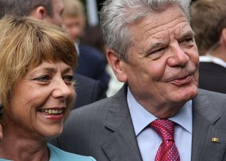 President of Germany - Former President Joachim Gauck and his partner Daniela Schadt