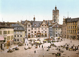 The Schlossplatz A Market Square In Front Of The Ducal Palace Around  One Of The Few Areas To Survive In Similar Style After World War Ii