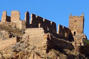 Fortún Garcés Cajal - The ruins of the old castle (castillo mayor) of Daroca, which Fortún governed for a time
