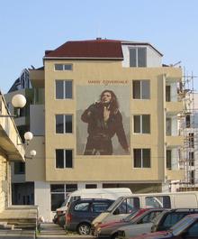 Un murale di David Coverdale a Kavarna (Bulgaria)