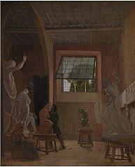 The Sculptor Jens Adolph Jerichau in his Studio in Rome