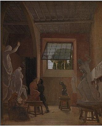 Jens Adolf Jerichau - Jerichau in his studio in Rome