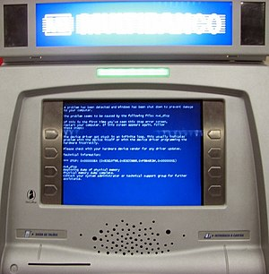 A Portuguese ATM running (or not) windows, in ...