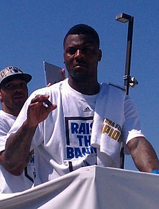 DeShawn Stevenson at the Championship parade.jpg