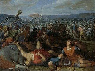 Claudius Civilis Defeats the Roman Troops near the Rhine in 69 AD