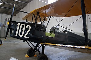 De Havilland DH-82 Tiger Moth military airplane (Museu do Ar, Portugal)