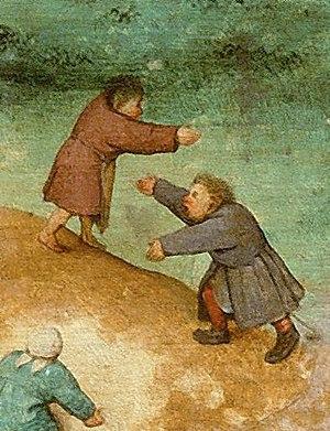 King of the Hill (game) - Detail from Pieter Brueghel the Elder's Children's Games