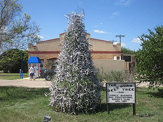 Junction, Texas - Deer Horn Tree (1968) established in Junction by Business and Professional Women