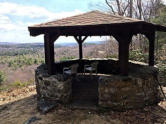 Dennis Hill State Park - Picnic pavilion overlooking  the park's southeast perimeter