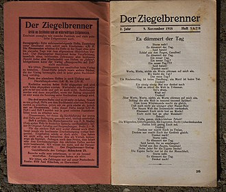 B. Traven - The anarchist periodical Der Ziegelbrenner, published by Ret Marut