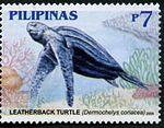 Dermochelys coriacea 2006 stamp of the Philippines.jpg