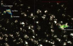 NASA-Landsat7-bildo de la Malfeliĉaj Insuloj