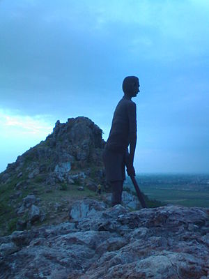 Bundelkhand - Statue of Dhyan Chand on Sipri Hill