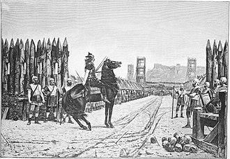 Henri-Paul Motte - Vercingetorix surrendering to Caesar, 1892