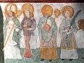 Die Marienkirche in Bad Mergentheim wurde aufwändig restauriert. Fresko mit Heiligen frühes 14. Jahrhundert.jpg