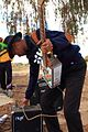 Die Nuwe Graskoue Trappers play an oil can guitar.jpg