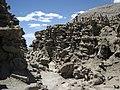 Differentially cemented & eroded sandstone (member C, Uinta Formation, Eocene; Fantasy Canyon, Utah, USA) 34 (24216326164).jpg