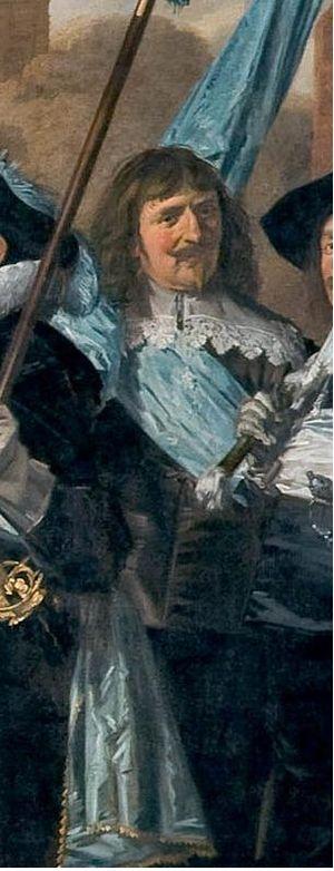 Dirck Dicx - Dirck Dicx, detail of schutterstuk by Frans Hals in 1639