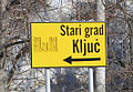 Direction sign to Old city of Kljuc.jpg