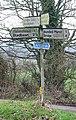 Dirty signpost - geograph.org.uk - 330901.jpg