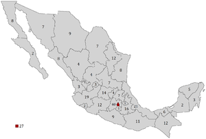 Federal electoral districts of Mexico - Image: Distritos Electorales Federales de México 2006 2015