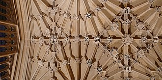 William Orchard (architect) - Image: Divinity School ceiling 2