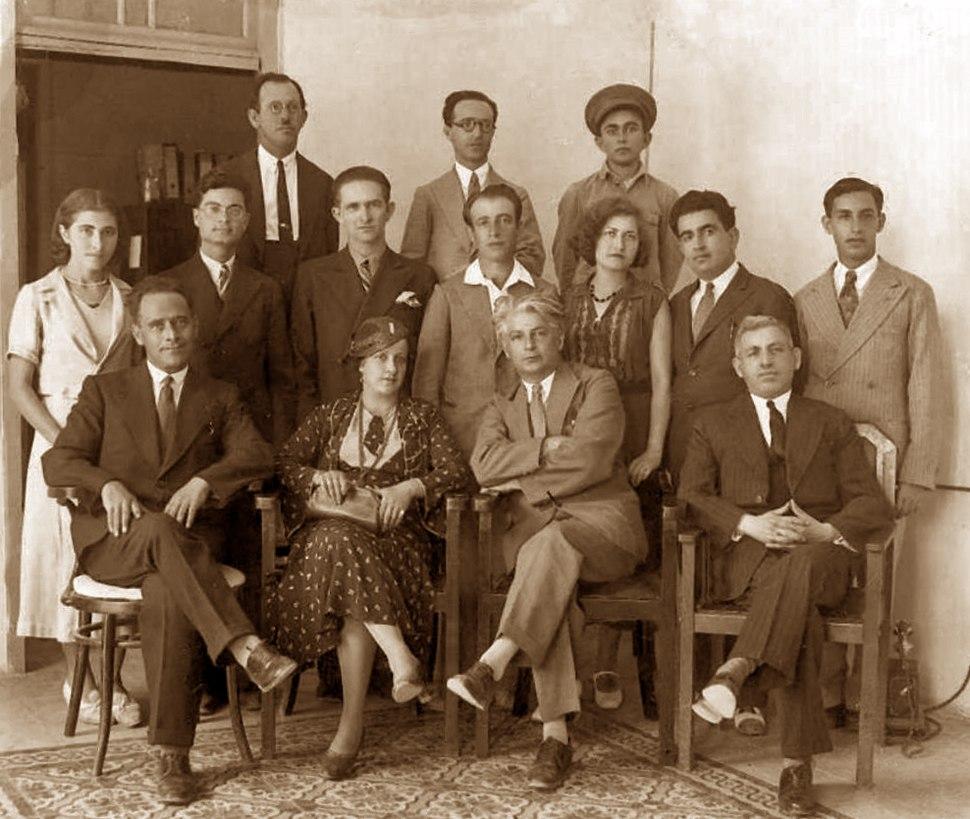 Doar Hayom newspaper's staff 1920s