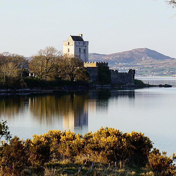 Doe Castle from across the water