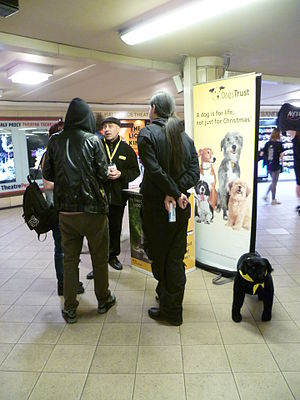Dogs Trust - Fundraising in Leicester Square tube station