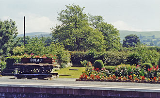 Dolau railway station - The station garden in 1997