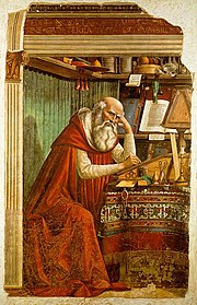 Saint Jerome in his Study, by Domenico Ghirlandaio