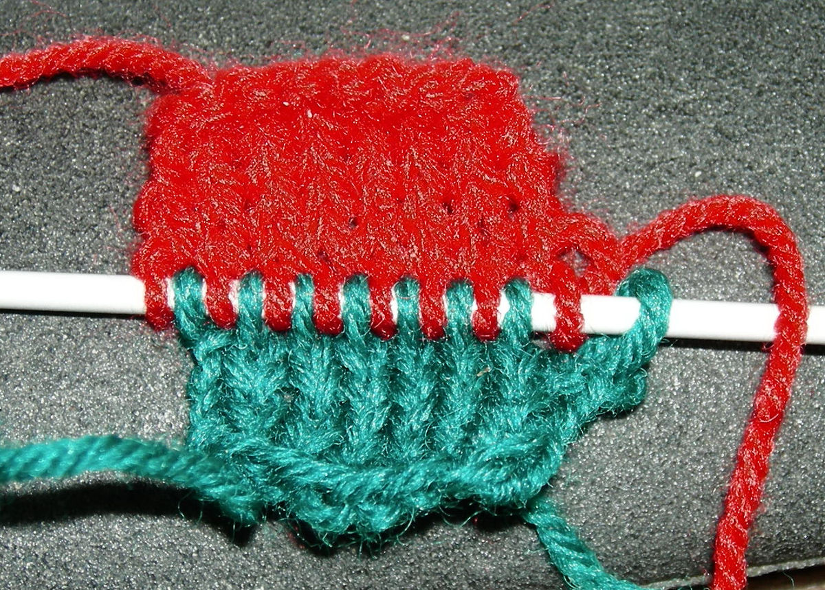 Knitting Meaning In Tagalog : Double knitting wikipedia