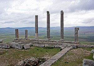 English: Temple of Saturn, Dougga, Tunisia Fra...