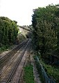 Dover to Deal railway line entering tunnel - geograph.org.uk - 1540827.jpg